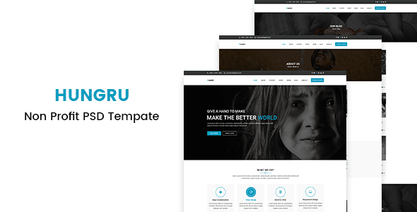 Hungry – Nonprofit PSD Template