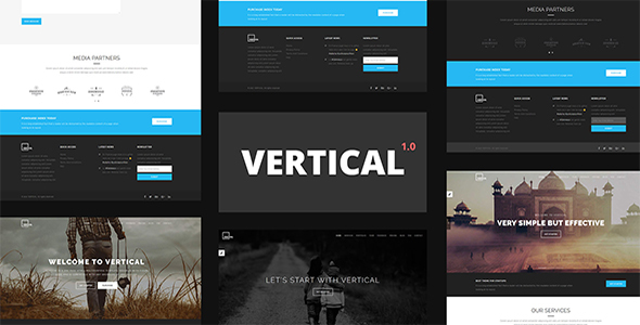 Vertical – One Page Multipurpose HTML5 Template