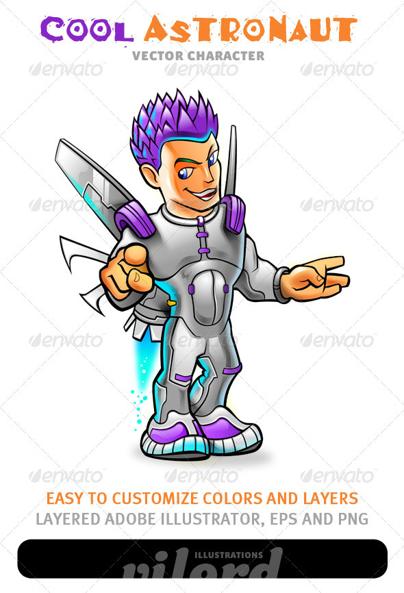 Cool Astronaut Mascot - People Characters