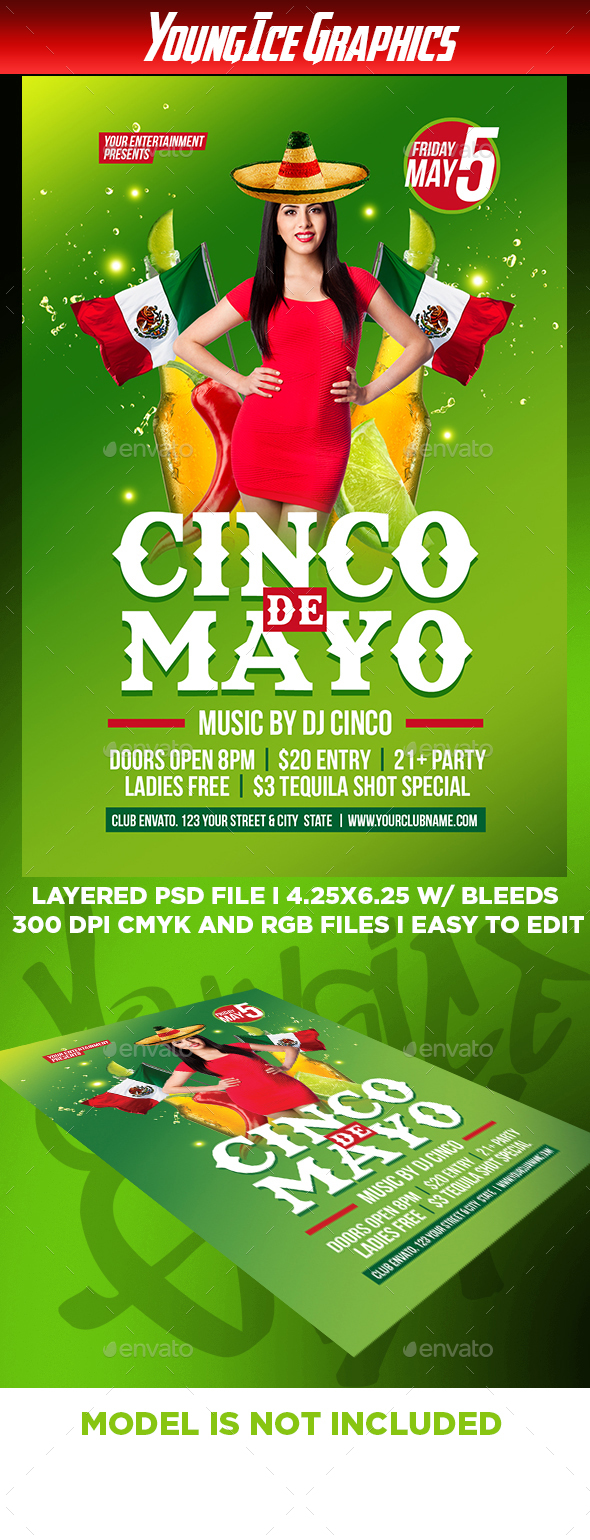 Cinco De Mayo Flyer Template - Clubs & Parties Events