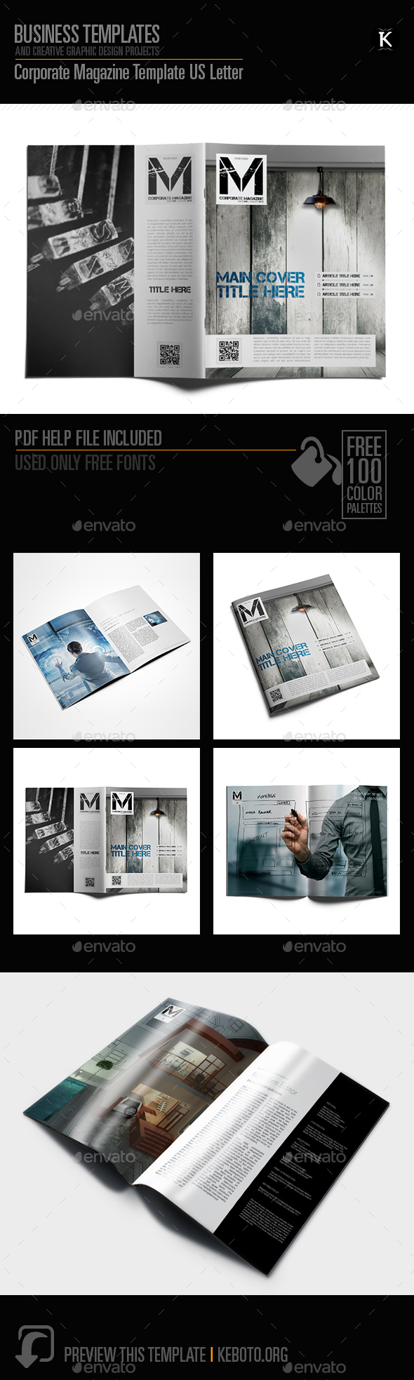 Corporate Magazine Template US Letter - Magazines Print Templates