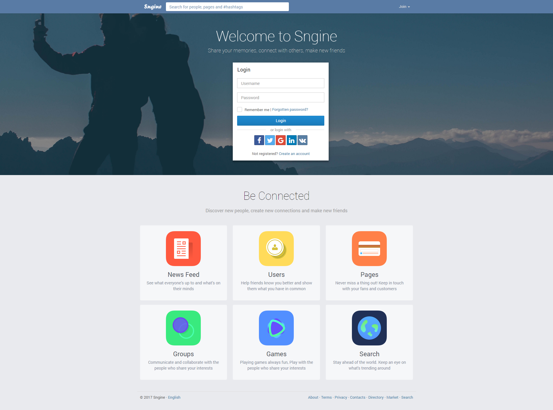 Sngine The Ultimate PHP Social Network Platform by Zamblek