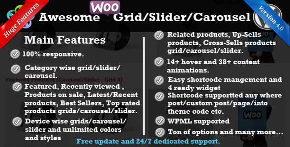 WooCommerce Product Slider/Carousel/Grid - CodeCanyon Item for Sale