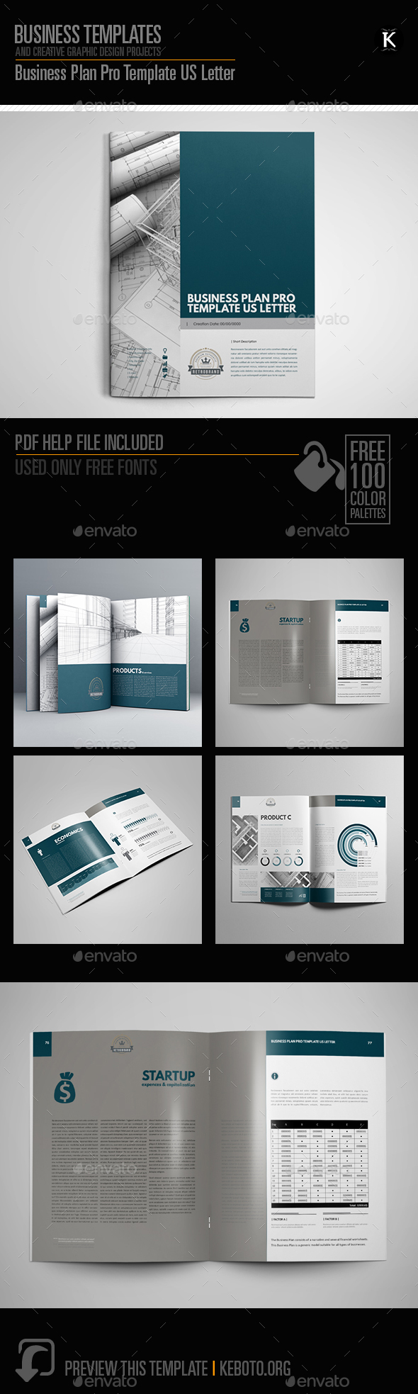 Business plan pro template us letter by keboto graphicriver business plan pro template us letter print templates flashek Images