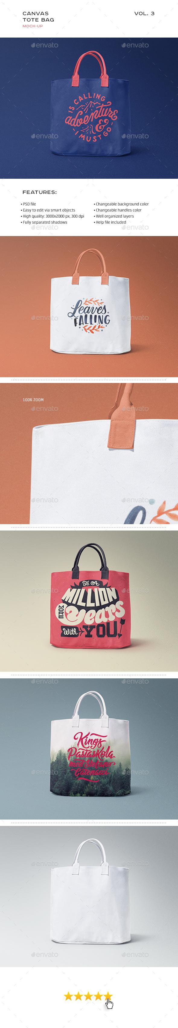 Canvas Tote Bag Mock-up Vol. 3 - Miscellaneous Product Mock-Ups