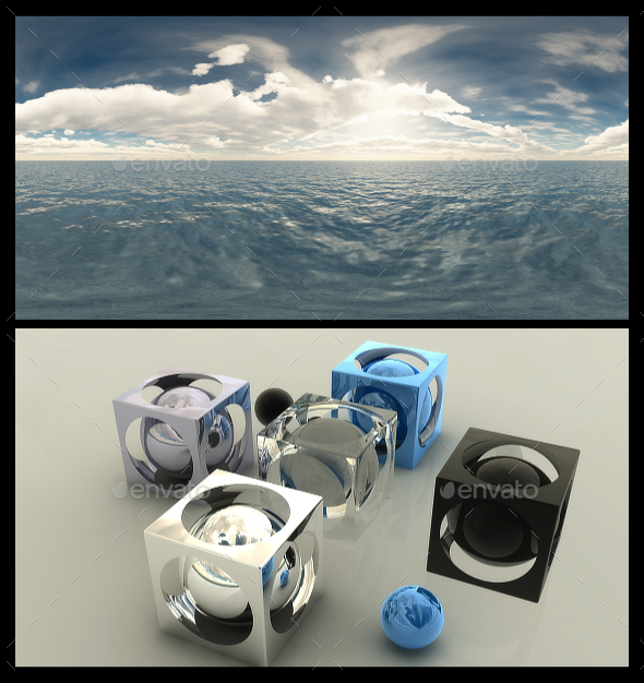 Cloudy Ocean Day 7 - HDRI - 3DOcean Item for Sale