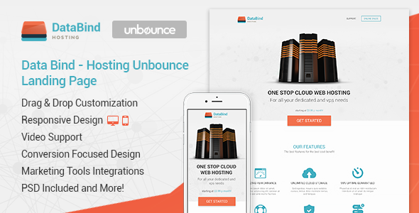 Data Bind - Hosting Unbounce Landing Page - Unbounce Landing Pages Marketing