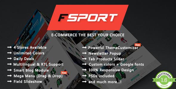 Fsport – Sport Store Responsive Prestashop Theme