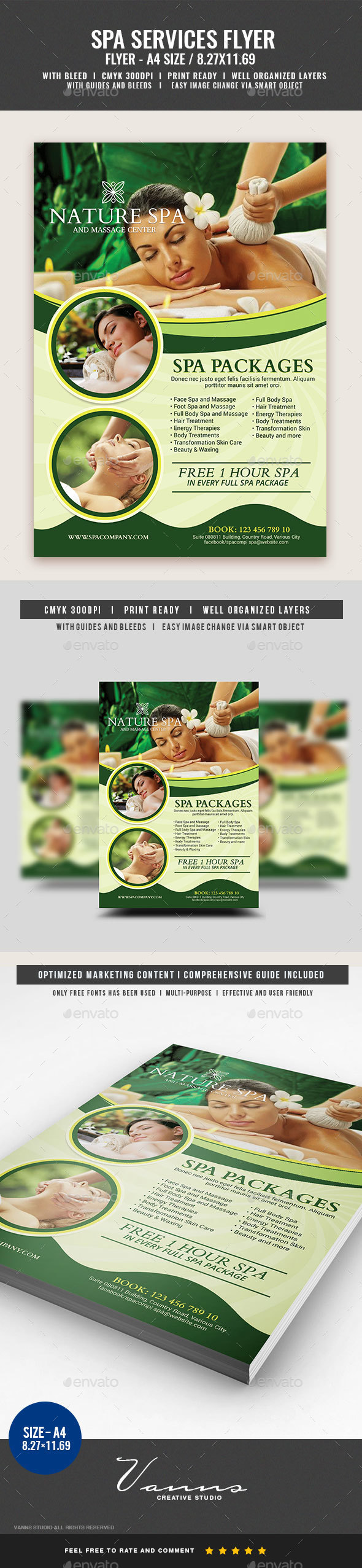 Spa and Relax Services Flyer - Commerce Flyers