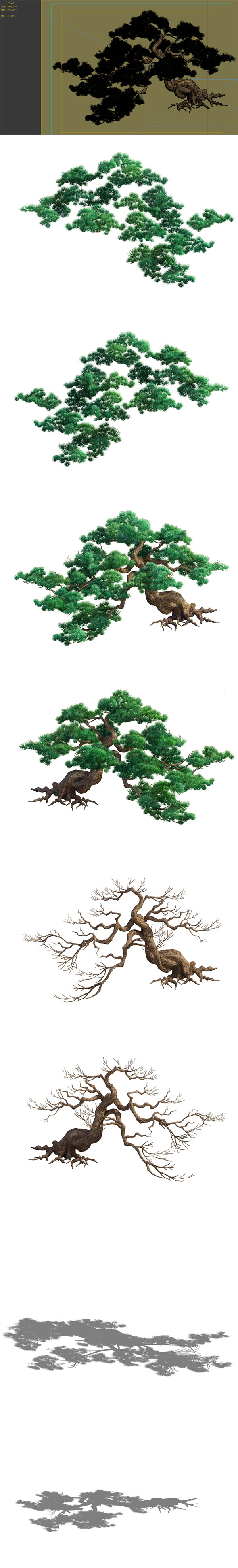 Game Model - Taoist comprehension scene - Pine 02 01 - 3DOcean Item for Sale