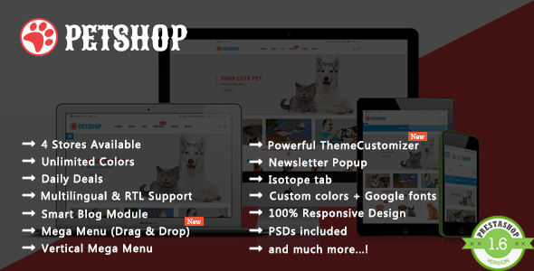 Petshop – Animal Care Responsive Prestashop Theme