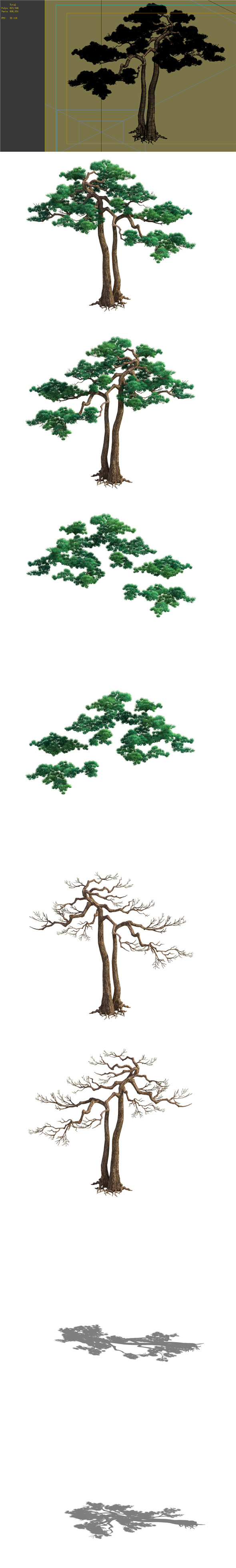 Game Model - Taoist comprehension scene - Pine 03 01 - 3DOcean Item for Sale