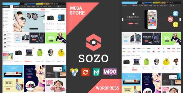 SOZO - Full Screen Mega Shop Theme - WooCommerce eCommerce