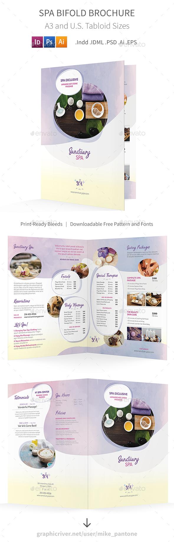 Spa Bifold / Halffold Brochure 7 - Informational Brochures