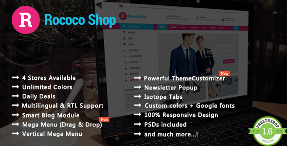 Rococo – Shopping & Accessories Responsive Prestashop Theme