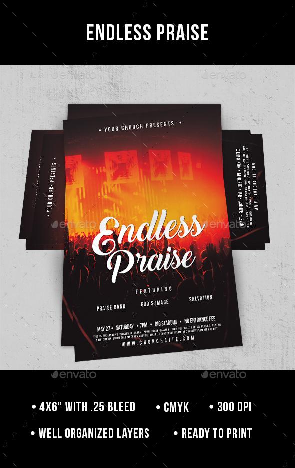 Endless Praise - Flyer - Church Flyers
