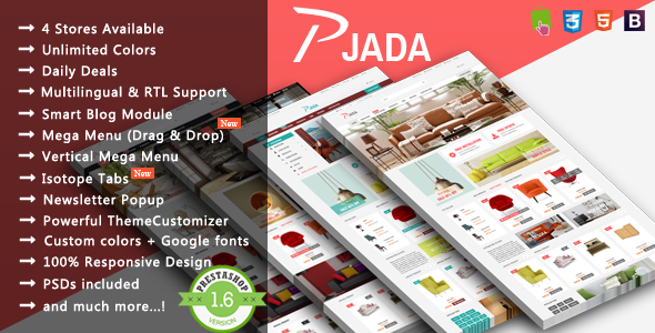 Pjada – Furniture Responsive Prestashop Theme