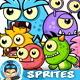 6- Monster Enemies Game Sprites Set - GraphicRiver Item for Sale