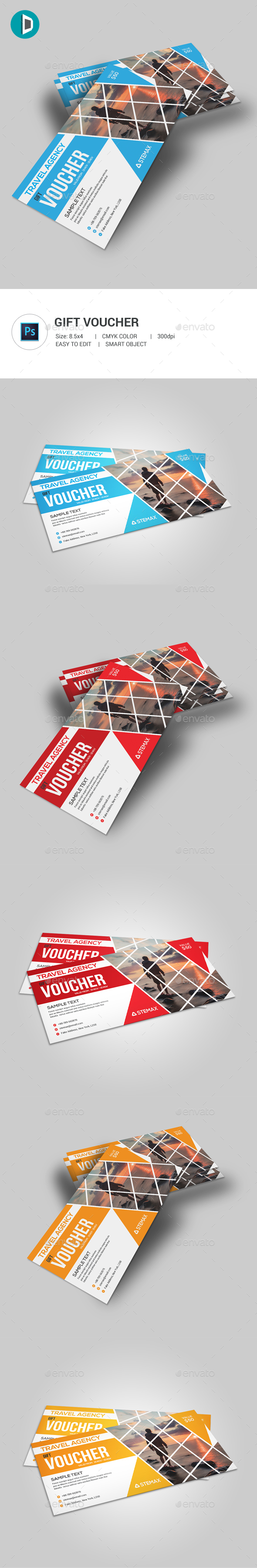Travel Agency Gift Voucher - Loyalty Cards Cards & Invites