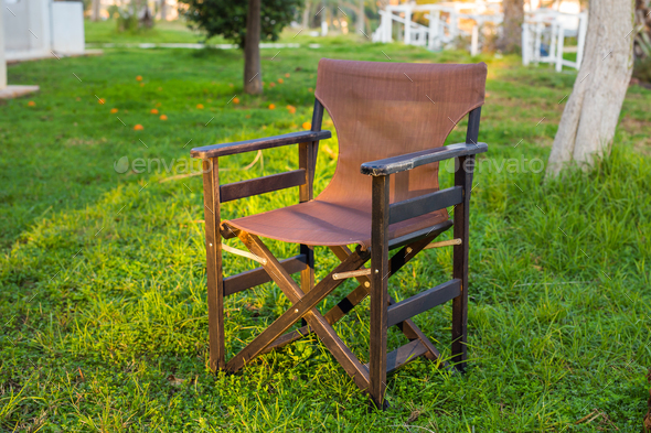 Outdoor furniture. Chair in hotel garden invite you to relax
