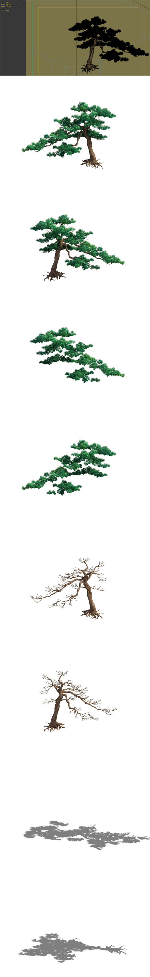 Game Model - Taoist comprehension scene - Pine 06 01 - 3DOcean Item for Sale