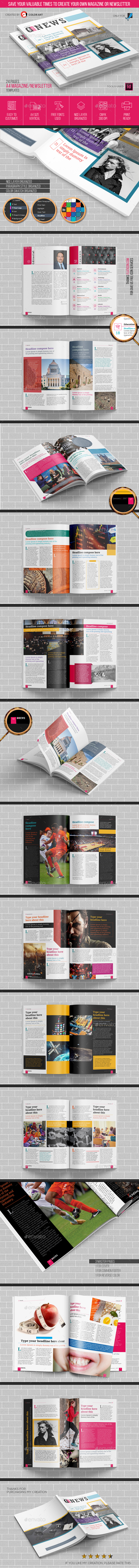 Magazine Newsletter Templates V.1 - Magazines Print Templates