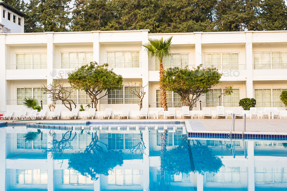 residence with swimming pool - Stock Photo - Images
