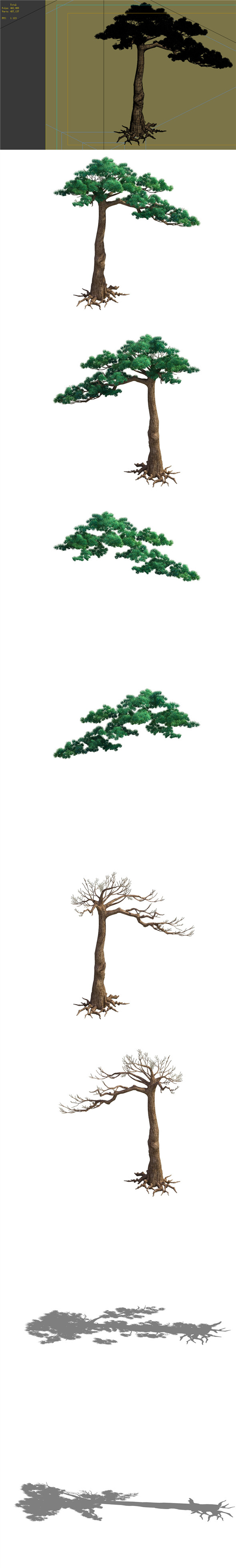 Game Model - Taoist comprehension scene - Pine 07 01 - 3DOcean Item for Sale