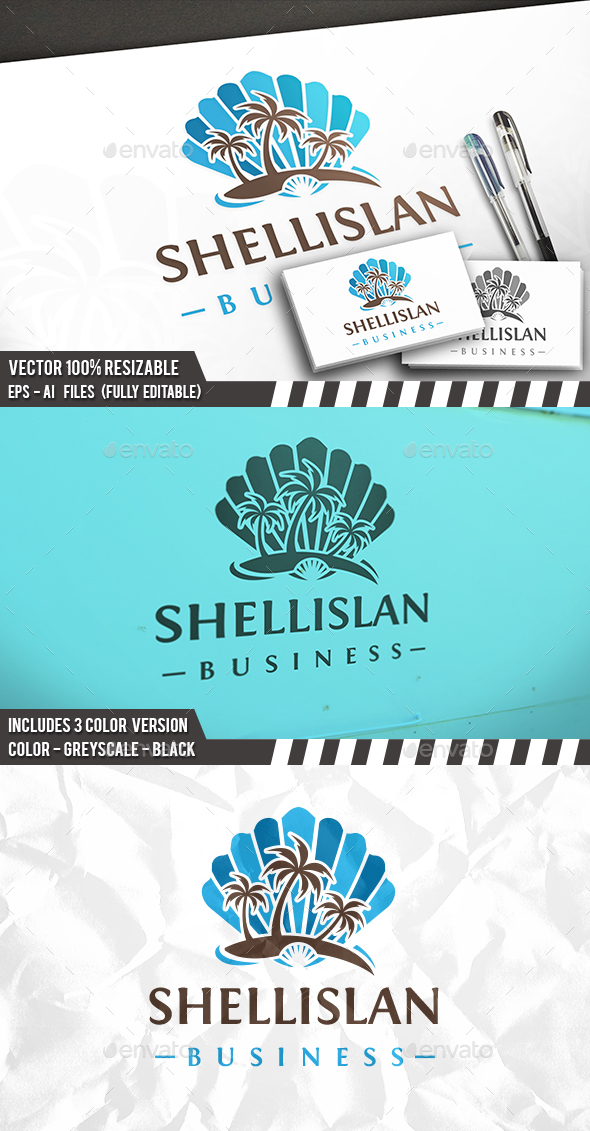 Beach Shell Logo - Nature Logo Templates
