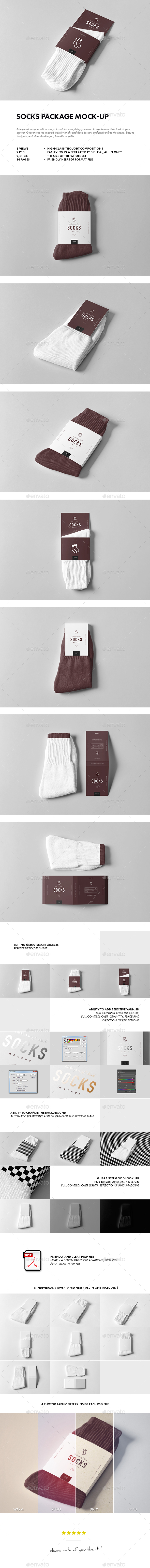 Socks Package Mock-up - Miscellaneous Apparel