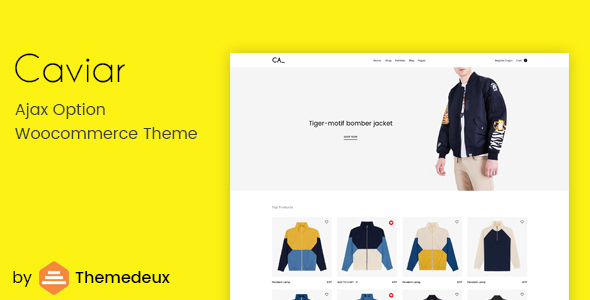 Caviar – Ajax Option Woocommerce Theme