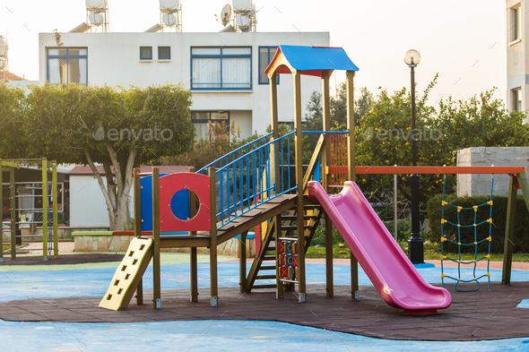 Children's playground outdoor - Stock Photo - Images