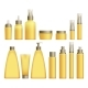 Realistic Yellow Cosmetics Bottles - GraphicRiver Item for Sale