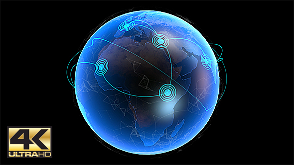 Global Network Connection Loop Background