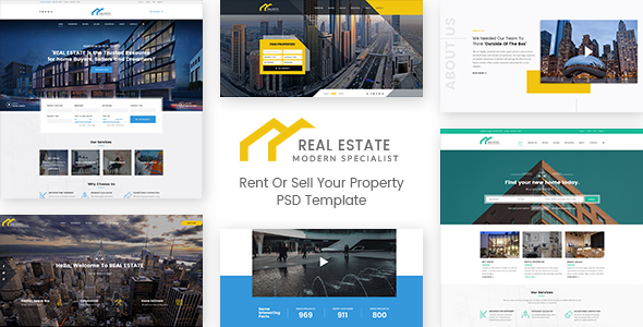 Real Estate – Rent Or Sell Your Property PSD Template