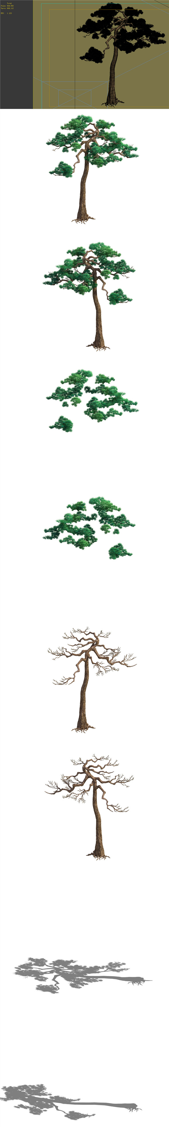 Game Model - Taoist comprehension scene - Pine 08 01 - 3DOcean Item for Sale