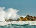 waves splashing on rocks - PhotoDune Item for Sale