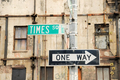 Times Square and one way direction signs - PhotoDune Item for Sale