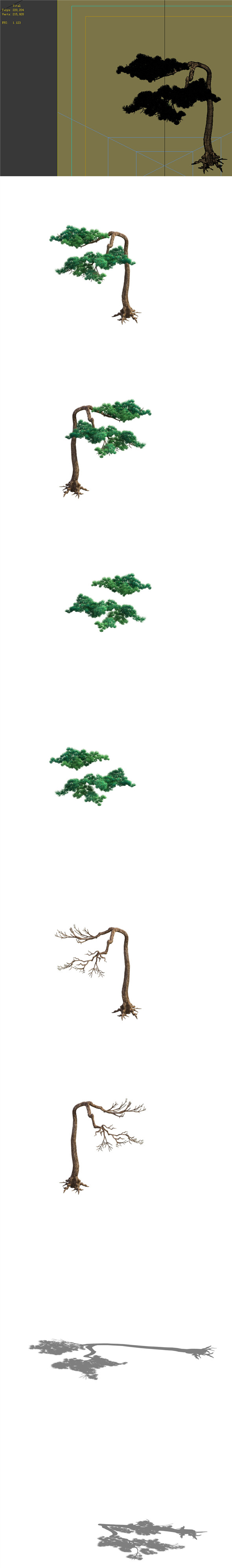 Game Model - Taoist comprehension scene - Pine 09 01 - 3DOcean Item for Sale