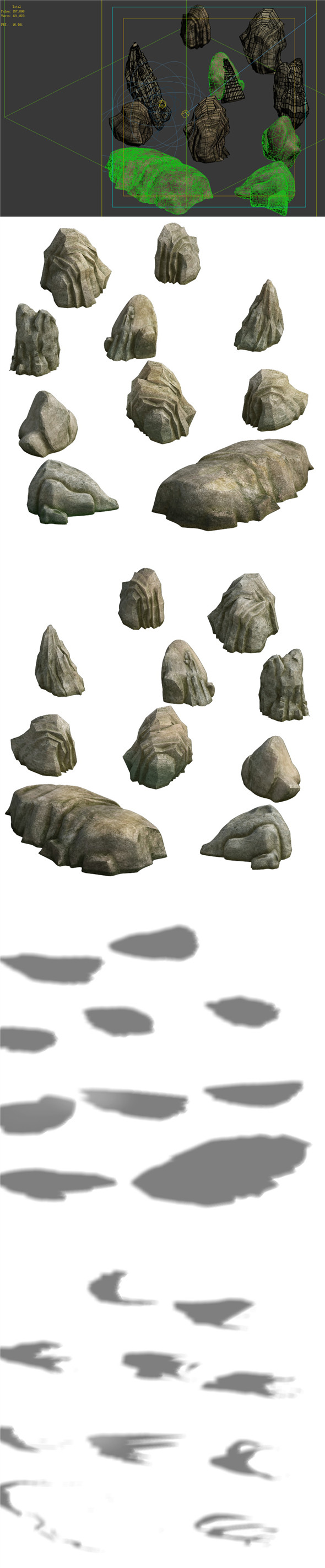 Game Model - Taoist comprehension Scene - small stones 01 - 3DOcean Item for Sale