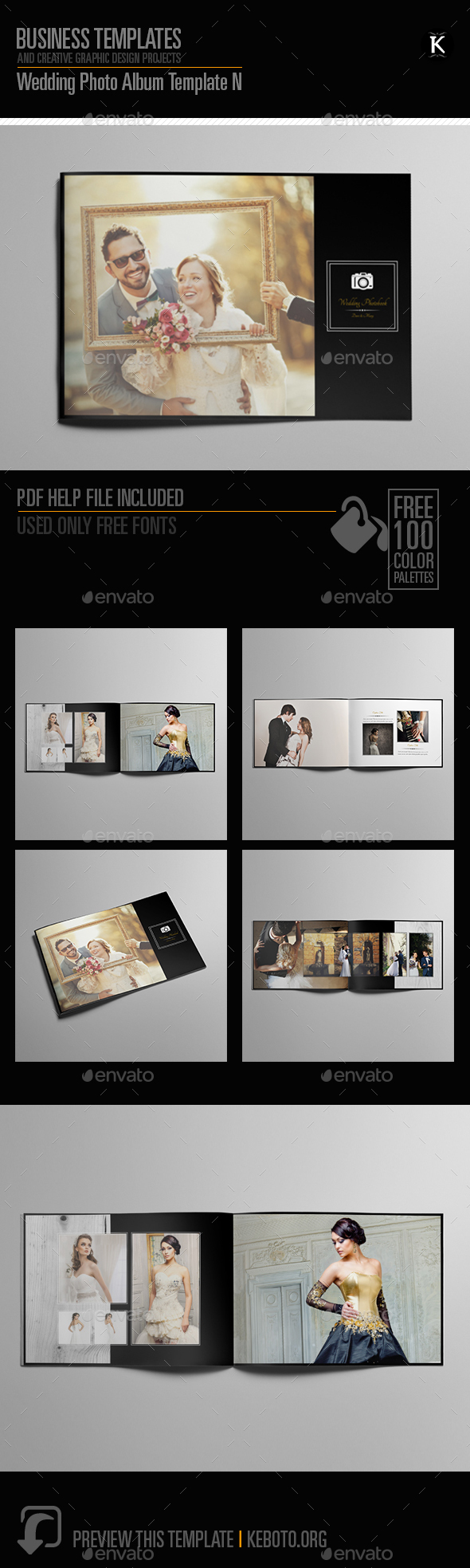 Wedding Photo Album Template By Keboto Graphicriver