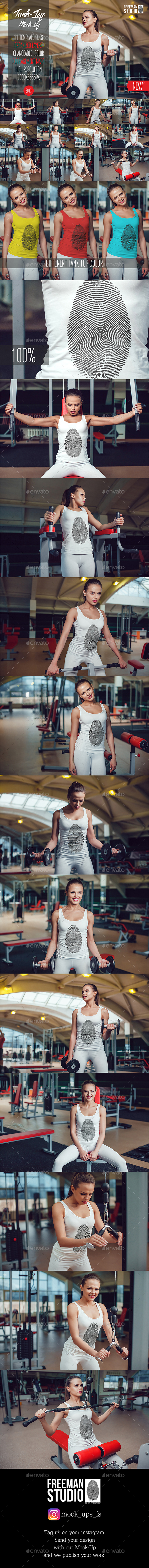 Sport Tank-Top Mock-Up Vol.1 2017 - Product Mock-Ups Graphics