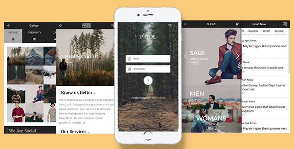 Pride - Multipurpose Mobile Template