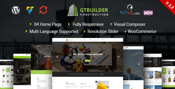 GTBuilder - Construction & Building WordPress Theme - Business Corporate