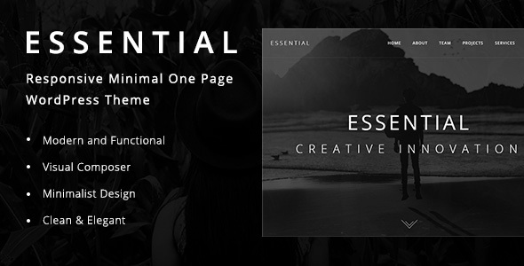 Essential – Responsive Minimal One Page WordPress Theme