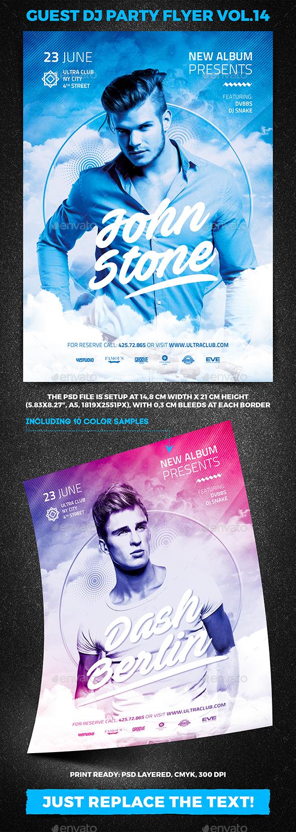 Guest DJ Party Flyer vol.14 - Clubs & Parties Events