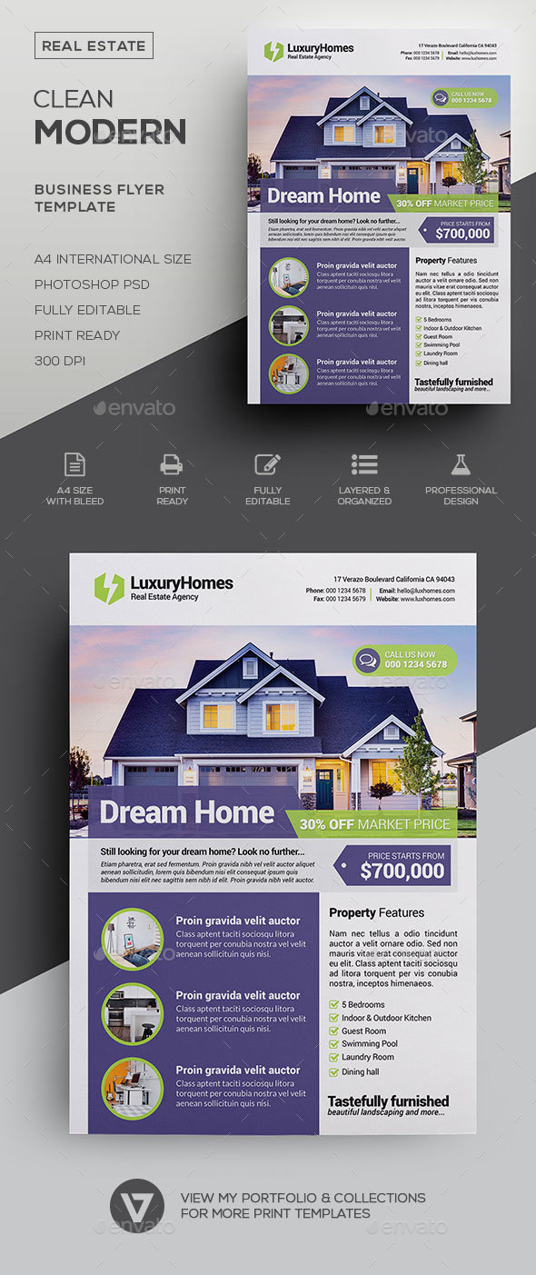 Real Estate Flyer Template By Verazo Graphicriver