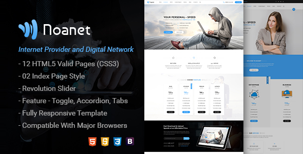 Noanet | Internet Provider and Digital Network HTML Template