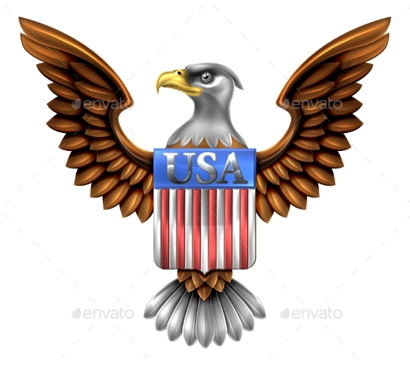 US Eagle Shield Design - Miscellaneous Vectors