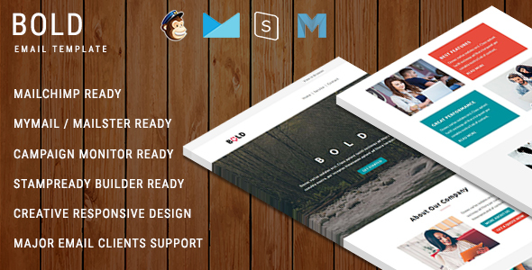 BOLD - Multipurpose Responsive Email Template With Online StampReady Builder Access - Newsletters Email Templates